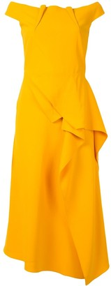 Roland Mouret Off-Shoulder Midi Dress
