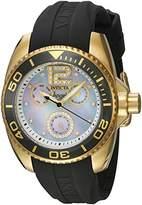 Invicta Women's 'Angel' Quartz Gold-Tone and Silicone Casual Watch, Color:Grey (Model: 21704)