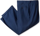 Haggar Men's Big and Tall eCLo Stria Pleat-Front Expandable Waist Dress Pant
