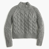 J.Crew Collection Italian cashmere-mohair cable mock neck sweater