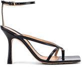 Bottega Veneta Leather Stretch Toe Heels in Black | FWRD