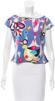 Emilio Pucci Abstract Print Short Sleeve Top