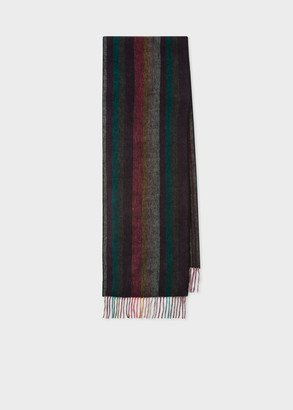 Paul Smith Men's 'Artist Stripe' Double-Face Cashmere Scarf