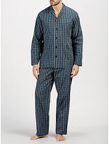 John Lewis Milton Poplin Check Pyjamas, Navy