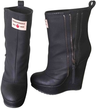 DSQUARED2 Grey Leather Boots