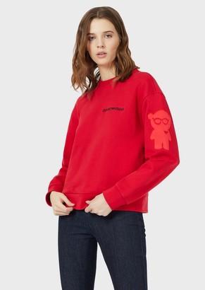 Emporio Armani Sweatshirt With Manga Bear Embroidery