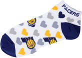 For Bare Feet Women's Indiana Pacers Heart Logo Repeat Socks