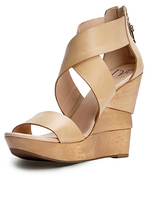 Diane von Furstenberg Opal Wedge Sandal In Natural