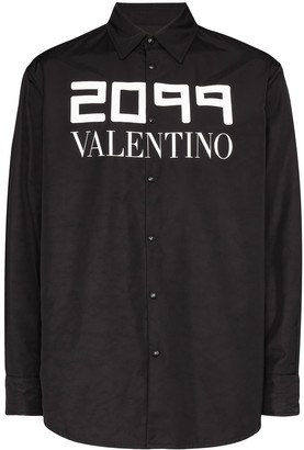 Valentino 2099 Logo Print Shirt Jacket