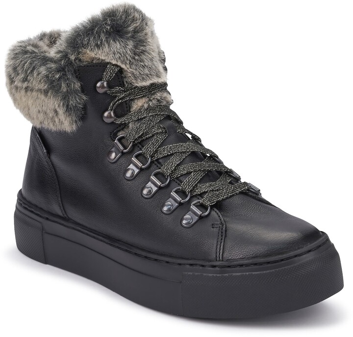 Fur Lined High Top Sneakers | Shop the
