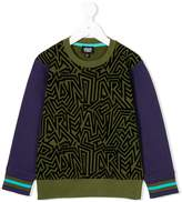 Armani Junior abstract print sweatshirt
