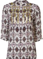 Figue 'Jasmine' ikat print embellished tunic top