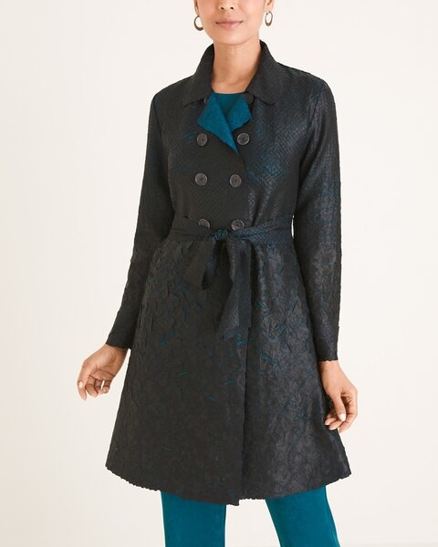 Travelers Collection Crushed Trench Coat