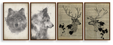 PTM Images Wild Animals (Canvas) (Set of 4)