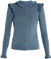 Sonia Rykiel Striped ribbed cotton-blend cardigan
