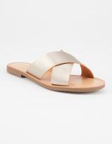 Soda Sunglasses Cross Strap Womens Sandals