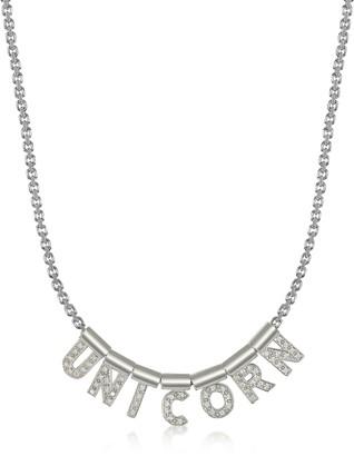 Nomination Sterling Silver and Swarovski Zirconia Unicorn Necklace