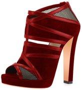 FSJ Women Peep Toe Hollow Out Pumps Platform Chunky High Heel Zipper Party Shoes Size 13 US