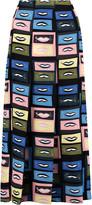 Emilio Pucci Pleated printed silk crepe de chine midi skirt