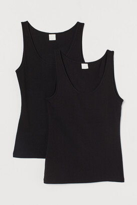 H&M 2-pack Ribbed Tank Tops