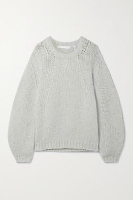 Helmut Lang Oversized Open-knit Sweater - Gray