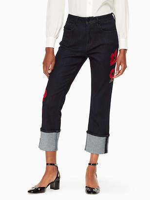 Kate Spade Poppy Embroidered Jean