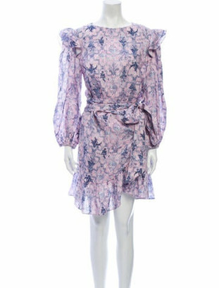 Isabel Marant Linen Mini Dress Purple