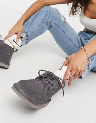 UGG Neumel lace up ankle boots in nightfall gray