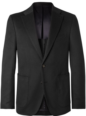 Black Lunt Slim-Fit Cashmere Blazer