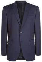 Jaeger Windowpane Wool Regular Fit Suit Jacket, Navy