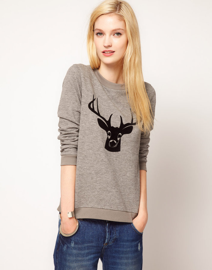 Jaeger Boutique by Deer Print Sweat