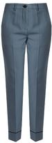 Miu Miu Slim-leg cropped stretch-wool trousers