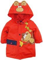 Wippette Baby Boys Rainwear Cute Monkey Adventure Raincoat Jacket