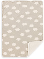 Living Textiles Baby Velour Clouds Blanket in Grey