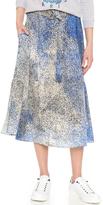 Kenzo Sand Silk Skirt