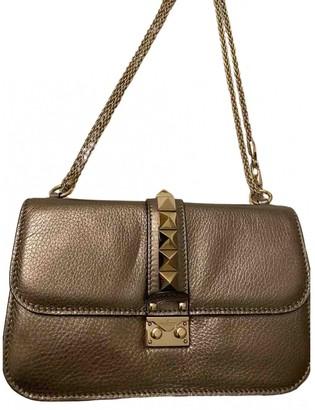 Valentino Glam Lock Metallic Leather Handbags