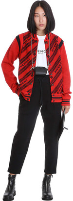 Givenchy Varsity Bomber Bomber In Red Wool
