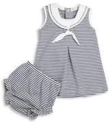 Kissy Kissy Baby's Seven Seas Two-Piece Cotton Stripe Dress & Diaper Cover Set