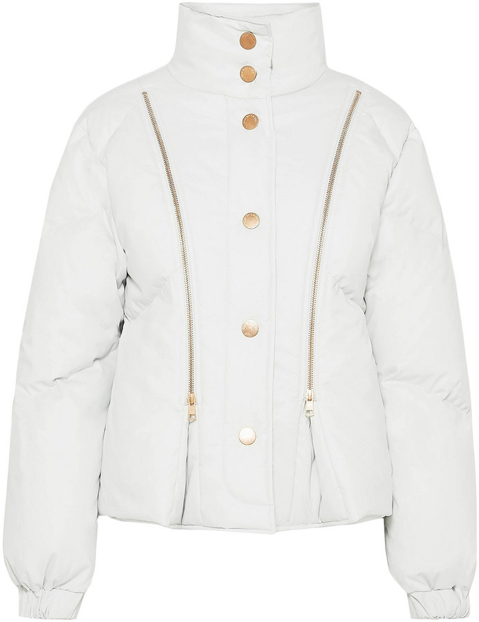 See by Chloe Zip-detailed Quilted Cotton-shell Jacket