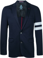 GUILD PRIME striped sleeve blazer