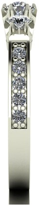 Love Diamond 9ct White Gold 0.50ct total Diamond Trilogy Ring