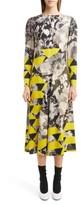 Dries Van Noten Women's Mix Print Midi Dress
