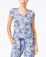 Alfani Floral-Print Pajama Top, Only at Macy's