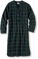 L.L. Bean Scotch Plaid Flannel Nightshirt