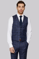 Ted Baker Tailored Fit Navy Check Waistcoat