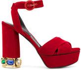 Casadei crystal-embellished platform sandals