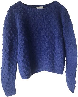 Ganni Blue Wool Knitwear