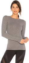 Alo Exhale Long Sleeve Top in Gray. - size L (also in S)