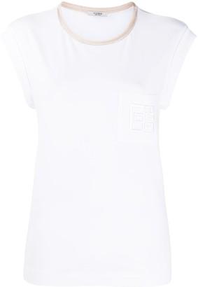 Peserico logo patch short-sleeved T-shirt