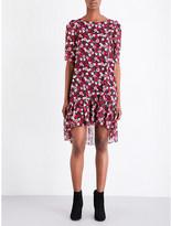 Saint Laurent Floral-print silk dress